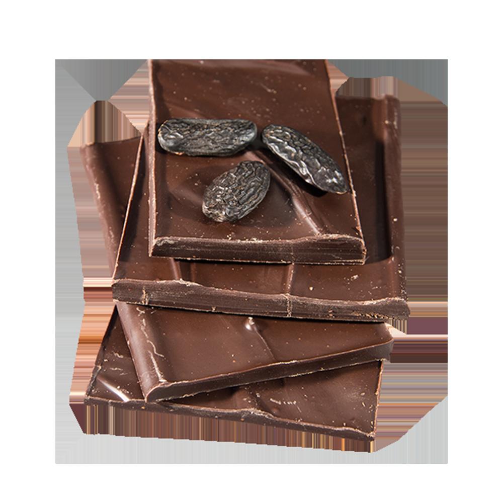 Zartbitter-Schokolade mit Tonka Bohnen